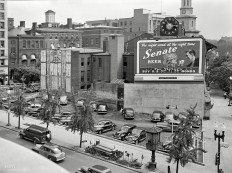 Senate Beer Ad. New York Ave NW & 14th St NW, Washington, DC 1942.