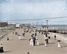 "The Jersey Shore circa 1905. ""Boardwalk at Asbury Park."""