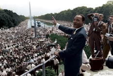MLK Giving His March On Washington Speech