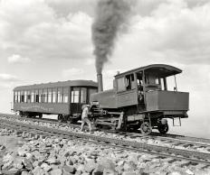 Cog Train Railway. Pike's Peak, Colorado circa 1900 (Original from shorpy.com)