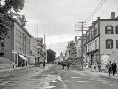 Main Street - Littleton, New Hampshire, Circa 1908 (Original from shorpy.com)