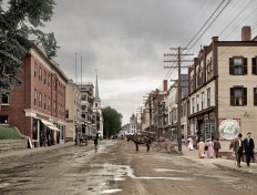 Main Street - Littleton, New Hampshire, Circa 1908
