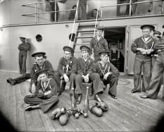 The Athletes of the U.S.S Oregon, Circa 1897 (Original from shorpy.com)