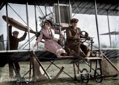 Senorita Lenore Riviero With Antony Jannus In A Rex Smith Aeroplane, Washington, D.C., circa 1911