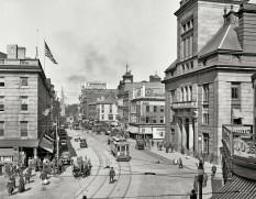 "Fall River, Massachusetts, circa 1920. ""Main Street."" (original from shorpy.com)"