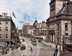 "Fall River, Massachusetts, circa 1920. ""Main Street."""